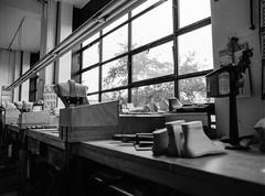 Fagus Werke 5 (aperture one) Tags: deutschland ahlfeld europa mediumformat germany bw gebude weltkulturerbe sw fagus architecture gropius buyfilmnotmegapixels analoguelove architektur workshop werkstatt interiordesign interiorarchitecture fomapan100 building 645 filmisnotdead blackwhite factory unesco bauhaus fabrik interior geometry mittelformat mamiya645 filmlove worldheritage europe schwarzweis geomtrie blackandwhite analog filmcommunity