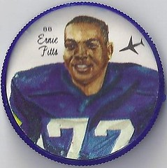 1964 Nalley's Potato Chips CFL Plastic Football Coin (type 1 back) - ERNIE PITTS #88-N (Winnipeg Blue Bombers / Canadian Football League) (trader #2) (WhiteRockPier) Tags: 1964 nalleys football coins caps footballcoins footballcaps bclions britishcolumbialions edmontoneskimos calgarystampeders saskatchewanroughriders winnipegbluebombers blank back blankback cfl canadianfootballleague potatochips vintage erniepitts