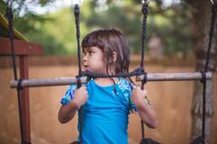 Monkey business (Daniel A Ruiz) Tags: portrait girl bokeh playground backyard tree wood project365 12