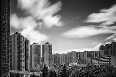 Housing ([~Bryan~]) Tags: housing ndfilter filter longexposure daytimelongexposure time cloudmovement building architecture bw blackandwhite monochrome city urbanlandscape urbandensity hongkong
