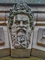 Stone Faces, Leeds Town Hall, UK, 27082016  JCW1967, OPE, HDR (6) (jcw1967) Tags: leedstownhall stonefaces carvedheads architecture historical hdr oloneo