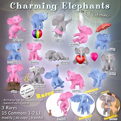Mutresse@The Arcade in September 2016-Charming Elephants Gacha Key (Eeky Cioc) Tags: arcade original mesh mutresse materials cute animals