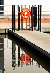 Double image (dlanor smada) Tags: canals grandunion reflections moorings aylesbury bucks chilterns