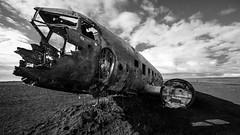 DC-3 US NAVY Icelandic beach (Louis Lefranc) Tags: dc3 douglas navy us plane iceland canon bnw bw black white beach sand uga clouds samyang 14mm army contrast crash wreckage cinema 169