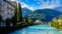 Interlaken (fgazioli) Tags: interlaken swiss switzerland swissalps blue lake river bestplacestogo nature natureza travel cityphotography city cityscape landscape x100s fuji fujifilm fujix100s fujilovers skye green