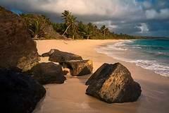 Big Rock Beach (Etienne Compre) Tags: landscape seascape martinique morning rocks sand cocotree carribean