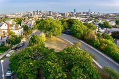 View From Prospect Hill Monument ((Jessica)) Tags: boston newengland pw massachusetts somerville prospecthillpark prospecthill prospecthillmonument bostonskyline skyline green trees