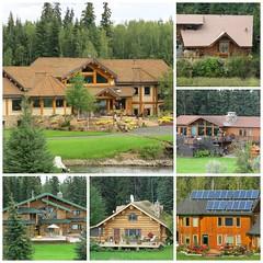 houses along the Chena River (karma (Karen)) Tags: chenariver alaska homes collage mmm