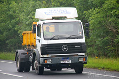 Mercedes 1820 Skip Loader Martock Waste Paper N420 AYD (SR Photos Torksey) Tags: truck transport haulage hgv lorry lgv logistics road commercial vehicle freight traffic mercedes 1820 skip loader