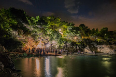 There's a party on the beach (Vagelis Pikoulas) Tags: porto germeno greece sea seascape party rock rocks canon 6d tokina 2470mm long exposure people music tree trees august summer 2016 landscape night nightscape