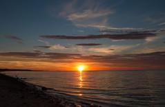 Cape Light (SueZinVT) Tags: canon70d sunset suezamecnik silhouettes water clouds waves skies shore