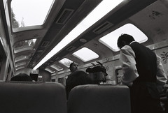 train to aguas calientes (arcibald) Tags: cusco peru train machupicchu ilford hp5 plus 400 film fm2 nikon