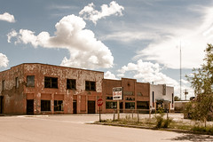 (el zopilote) Tags: carrizozo newmexico architecture street townscape clouds signs powerlines smalltowns landscape stop red canon eos 1dsmarkiii canonef24105mmf4lisusm fullframe