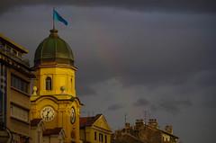 Torre civica di Fiume (shpongleri) Tags: fiume rijeka hrvatska croatia gradski toranj city tower rainbow colors rain pentax k50