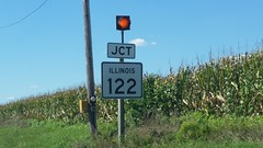 009-122w2 (paulthemapguy) Tags: illinois highway route sign 122 9 jct