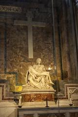 Michelangelo's Pieta (David_and_Marilyn_King) Tags: stpetersbasilica rome 2016 vatican church piet mary jesus sculpture marble michelangelo