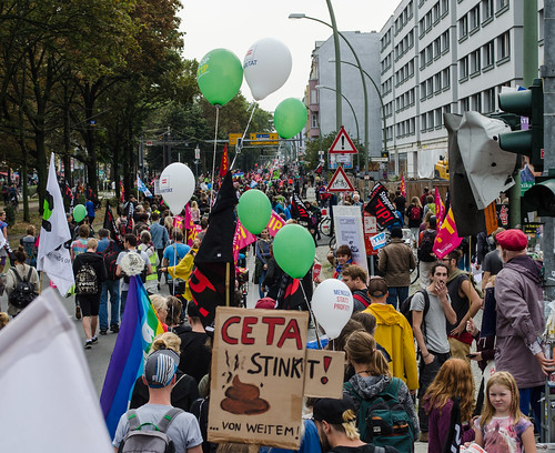 Stop CETA & TTIP Demo 2016 in Berlin