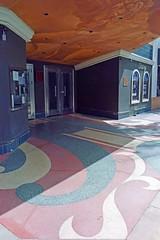 what a theater ! (Riex) Tags: theater cinema street artdeco murphy avenue rue historic quartier batiment building gate portail sunnyvale california californie sfba cosinavoigtlander bessaflex tm m42 28mm film reflex screwmount analog analogue silverhalide cn200 agfa agfaphoto agfacolor pancakelens optomax mc f28