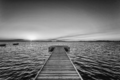 Peaceful (giovaaa!) Tags: marsala black white blackandwhite blackwhite stagnone riservanaturaledellostagnone riservanaturalestagnone biancoenero bw pontile sea mare sunset tramonto