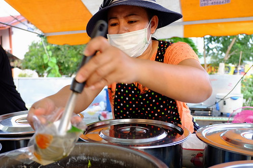 Serving south style food on roadside, Chiang Mai, Thailand
