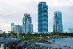 _JAM7748 (Jamil D750) Tags: miami beach south pointe park water blue skies green grass skyscrapers pier lifeguard house evening field nikon d750