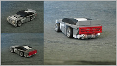 Cuda's Update (Count Sepulchure) Tags: tiny turbo lego racers moc car vehicle grey gray muscle cuda barracuda classic