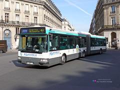 Renault Agora L - RATP 4477 (Pi Eye) Tags: paris bus renault autobus iledefrance agora ratp roissy cdg aroport parisien rvi irisbus stif gelenk roissybus agoral articul vertjade
