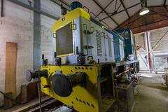 """Unknown Class 03 Under repair"" (kevaruka) Tags: great central rail railway class 25 british 20 73 56 08 46 ruddington greatcentralrailway gcr class47 class37 class03 class73 class56 preserveddiesel ilobsterit"