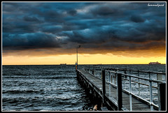 Sunset at St. Kilda Beach (hammadjaved) Tags: pakistan sunset beach st canon spirit maddy australia melbourne tasmania kilda 1100d hammadjaved