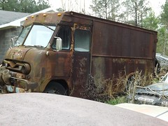 Rust 4  Truck 2 (lionel682) Tags: ford abandoned truck rust furniture rusty step delivery van parcel stepvan pseries
