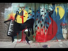 la rebeliòn se construye sembrando (Felipe Smides) Tags: mural pintura puentealto smides felipesmides