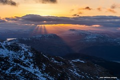 sunrise over the trossachs from the cobbler (john&mairi) Tags: morning sea mountain snow mountains alps ice sunrise scotland highlands day scottish hills explore mountaineering summit sunrays lomond lochlomond scramble ascent arrochar benvenue benledi benarthur thecobbler lochlong arrocharalps explored locharklet scottishhills nightclimb bnlomond summitbivouac