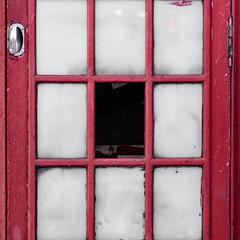 Box Red (Magic Pea) Tags: hinge windows red square photography photo minimal simple minimalist phonebox redphonebox magicpea