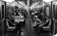 Subway (bryandgg) Tags: new york city nyc newyorkcity bw white newyork black train canon subway t3i 600d bryandgg