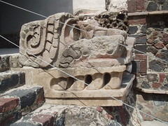 Serpent Head (Aidan McRae Thomson) Tags: sculpture mexico ancient ruins pyramid teotihuacan carving quetzelcoatl
