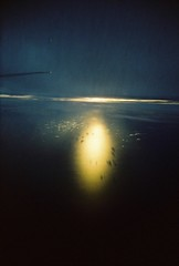Sunset From Above (Devina Ramadiwinata) Tags: life city trip travel blue sunset sea vacation sky sun holiday color film beach nature water colors clouds analog 35mm indonesia landscape fun island photography photo colorful asia day photos bluesky jakarta 200 lucky analogue vivitar indonesian compact toycam luckycolor luckysuper eximus