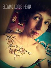 Cherry Blossom Henna on Chest (Ana Warren) Tags: flower cherry branches chest blossoms henna portlandoregon mehendi mehndi heena mehandi hennapaste bloominglotushenna