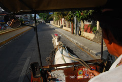 riding a calesa horse drawn cart (3) (BohemianTraveler) Tags: old city horse heritage architecture island town site asia pacific district philippines colonial chinese unesco mexican spanish filipino sur vigan ilocos kalesa luzon calesa mestizo