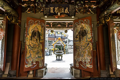 Guardian Door Gods (olvwu | ) Tags: art temple folkart traditional taiwan landmark historic tao chiayi taoist masterpiece   traditionalarchitecture historicsite historicbuilding jungpangwu oliverwu oliverjpwu chiayicity     chiayicounty  baoshengdadi olvwu  jungpang   dadaogong jenwutemple