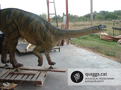 Plateosaurus (Quagga Associats) Tags: park public glass germany outdoors fire zoo one for model eyes paint with dinosaur nest very outdoor 5 five metallic egg double structure newborn layer and polyester to areas resin offspring reconstruction internal conditions in plasticine moulded sculptured quagga retardant resistant plateosaurus hyperrealist sillicone ramonlopez indicidual trosingerii alemaniya