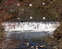 Botanical Garden Waterfall on the Bronx River, New York City (jag9889) Tags: park city nyc ny newyork river waterfall bronx landmark national borough gorge cascade botanicalgarden nybg newyorkbotanicalgarden bronxriver bronxpark 2013 snuffmill bronxdale jag9889