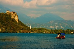 Lake Bled 6 (RiserDog) Tags: slovenia bled yugoslavia lakebled julianalps bledcastle pilgrimagechurchoftheassumptionofmary
