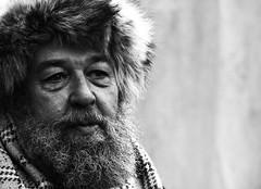 As time goes by (Wilamoyo) Tags: york old portrait bw white man black senior hat portraits hair beard person character human elderly viking vikingfestival