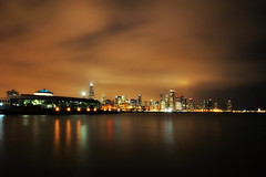 Chicago at Night (Seth Oliver Photographic Art) Tags: nightphotography chicago reflections landscapes illinois nikon midwest nightimages searstower cityscapes lakemichigan nightshots trumptower southloop pinoy cityskyline sheddaquarium circularpolarizer chicagoskyline urbanscapes 30secondexposure secondcity windycity longexposures chicagoist d90 nightexposures wetreflections iso250 cityofbigshoulders willistower setholiver1 aperturef220 tripodmountedshot 1024mmtamronuwalens manualmodeexppsure