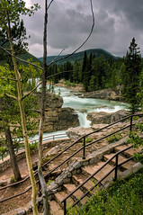 At the falls (JoLoLog) Tags: trees canada river falls alberta rockymountains hdr elbowfalls lorien kananaskiscountry canadianrockies highway66 canonxsi