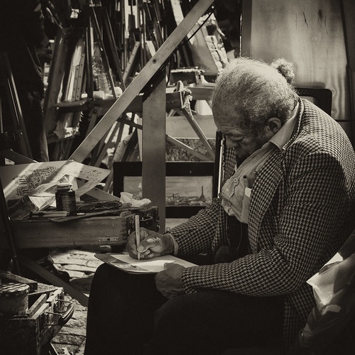 painter in monmarte