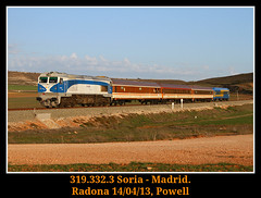 De vuelta a casa (Powell 333) Tags: madrid amigos train canon tren trenes eos gm general railway trains motors leon 7d powell material railways soria len castilla ferrocarril renfe generalmotors asociacin castillalen 319 castillaylen 332 asociacion caldero adif ffcc castillayleon operadora castillaleon 3193 nohab renfeoperadora eos7d canoneos7d integria radona aafm materialconvencional convenciona 319332 renfeintegria
