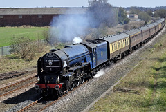tornado in the borders (midcheshireman) Tags: wales train steam locomotive tornado cathedralsexpress 60163 moldjctn