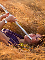 Ashleigh Noelle Photography [Sydney] (ashkono) Tags: portrait field photography flute discoverypark goldenhour tallgrass browngrass flautist grassyfield portraitphotography goldengrass ashleighnoellephotography