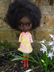 Erykah (Ollie (retroZ.uk)) Tags: black doll ooak blythe custom erykah adg vinatge
